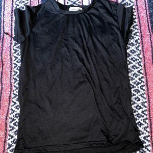 Black t-shirt with cut out back